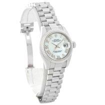 Rolex President Datejust Ladies 18k White Gold Watch 179179...