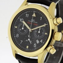 IWC Flieger Chronograph Watch 3740 Papers 1989 TRITIUM 18K Gold