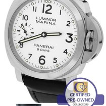 Panerai Luminor Marina 8 Days PAM 563 White 44mm Watch PAM00563