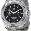 TAG Heuer Aquaracer Black Dial Stainless Steel Mens Wat...