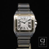 Cartier Santos 100 Large Size Steel & Yellow Gold Bracelet