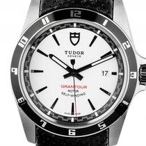 Tudor Grantour Date Stahl Automatik Armband Leder 42mm