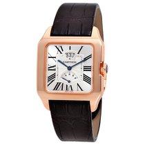 Cartier Santos-Dumont Mechanical Silver Dial Mens Watch W2020067