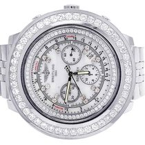 Breitling Mens Breitling Bentley A25362 48MM Stainless White...