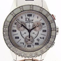 Dior Christal Chronograph White Crystals