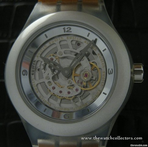 Swatch Rare Limited Edition &amp;#34;Diaphane One Carrousel Aluminium&amp;#34; Full Set
