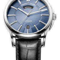 Maurice Lacroix Pontos Day/Date Blue Dial Silver Index Black...