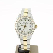 Rolex Date 26mm Steel/Gold (BOX1979) Non Factory Diamonds Setting