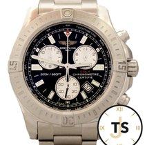 Breitling Colt Chronograph Quartz 44mm Black Dial SS A73388 Watch