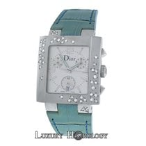 Dior New Authentic Ladies  Riva D81-101 Stainless Steel Diamonds