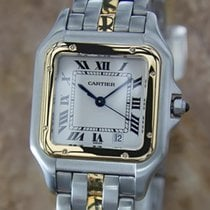 Cartier Panthere 18k Gold Stainless Steel Swiss Made Unisex...
