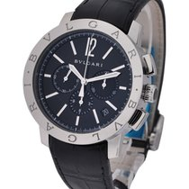 Bulgari BB41BSLDCH - 41mm Chronograph - Steel on Strap with...