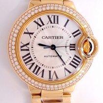 Cartier Ballon Bleu Wjbb0002 18k Y Gold 33mm Factory Diamond...