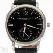 A. Lange & Söhne Uhr Sax-O-Mat 750er Weissgold Ref. 301.027