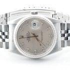 Rolex Mens Datejust - Silver Diamond Dial 16234