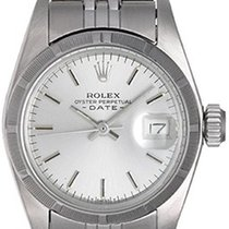 Rolex Ladies Date Stainless Steel Watch Silver Dial