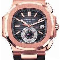 Patek Philippe Nautilus 5980R-001 18K Rose Gold on Strap