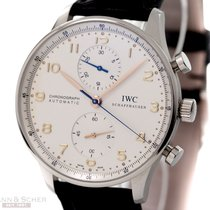 IWC Portugieser Chronograph Ref-IW3714 Stainless Steel Box...
