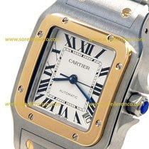 Cartier SANTOS GALBEE STEEL & YELLOW  GOLD  18kt