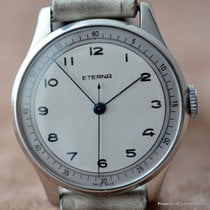 Eterna 1940's CALATRAVA OFFICERS STYLE SILVERED BLUED DIAL...