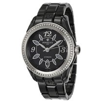 Perrelet Classic Eve Black Dial Diamond Ceramic Ladies Watch