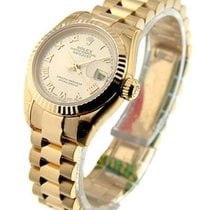 Rolex Unworn 179175 Rose Gold Ladys President with Fluted...
