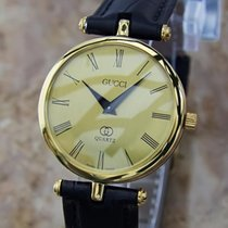 Gucci Swiss Made Original Unisex 30mm Luxury Gold Plated C2000...
