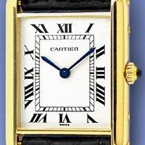 "Cartier ""Classic Tank"" Strapwatch."