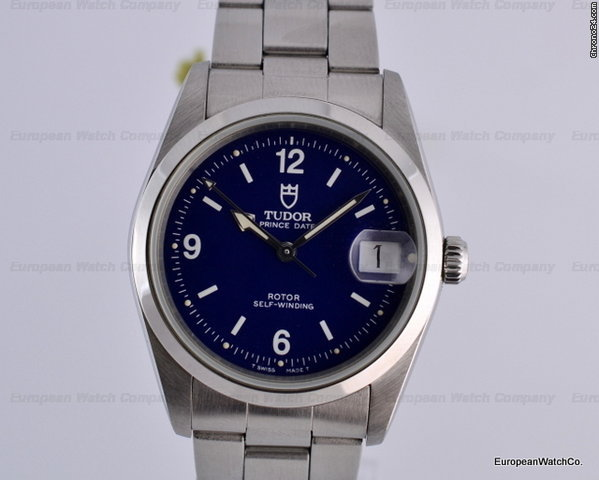 Tudor Oyster Prince Blue Dial Automatic 35MM