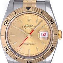 Rolex 2-Tone Turnograph Men's Watch 116263 White Dial