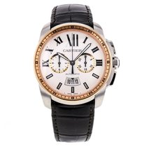 Cartier W7100043 42mm Stainless Steel 18k Rose Gold Bezel...