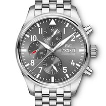 IWC IW377719 Pilot Spitfire Chronograph in Steel - on Steel...