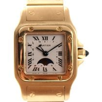 Cartier Santos Moonphase 18K Gold Lady's
