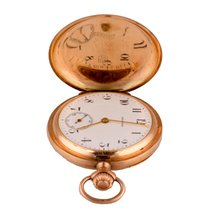 Zenith Grand Prix Paris 1900 rose gold vintage pocket watch