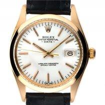 Rolex Oyster Perpetual Date Gelbgold Automatik Armband Leder...