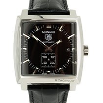 TAG Heuer Monaco On Black Leather Automatic
