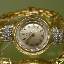 Omega vintage lady coktail watch 18ct gold and diamnonds