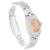 Rolex Oyster Perpetual Nondate Ladies Steel Salmon Dial Watch...