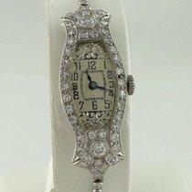 Big Gard Watch Co. Ladies Vintage Art Deco Platinum 1 1/2ct...