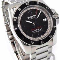 Tudor GranTour Date 20050N Black Dial Stainless Steel Watch -...