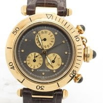 Cartier Pasha Chronograph Solid 18k Yellow Gold Watch Ref 1353/1