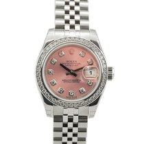 Rolex Ladies DateJust SS Jubilee Pink Diamond Dial-179384