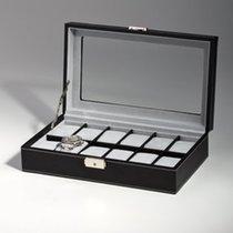 Rothenschild Uhrenkiste RS-1098-12BL fuer 12 Uhren black