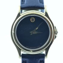 Movado Damen Uhr 25mm Stahl Vergoldet Museum Watch Rar 3