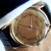 Geneve Serviced Universal Geneve Watch in 18 ct sold pink gold...