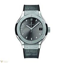 Hublot Classic Fusion Quartz Titanium Leather Ladies Watch