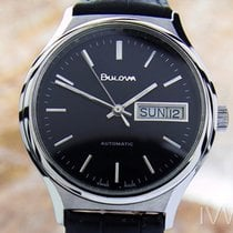 Bulova N8 Auto Day Date Mens Swiss Made Stainless Steel...