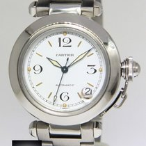 Cartier Pasha 35mm Stainless Steel White Dial Automatic Watch...