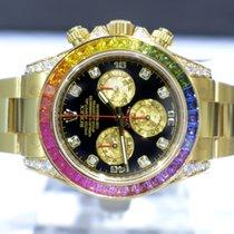 Rolex Cosmograph Daytona Diamonds Sapphires Rainbow - 116598 RBOW