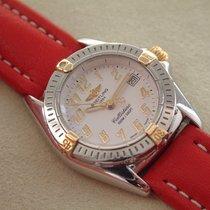 Breitling Callistino Stahl / Gold mit Lederband Chronometre...